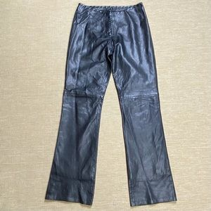 Cache Pants Calf Leather Black Butter Soft 6 New